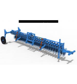 Борона-мотыга ротационная ANTOKS-6-СТ (с шасси) Антокс