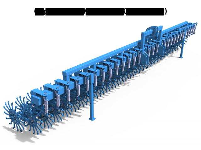 Борона-мотыга ротационная ANTOKS-6-С ЭКО (сплошная) Антокс