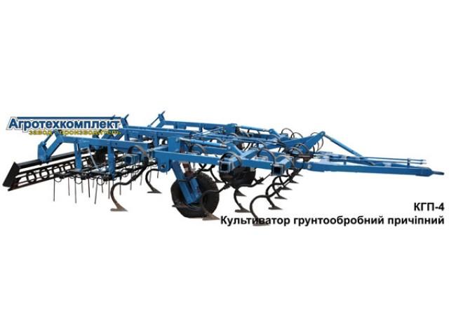 Культиватор почвообрабатывающий прицепной КГП-8,4 с пружинами S-образная стойка