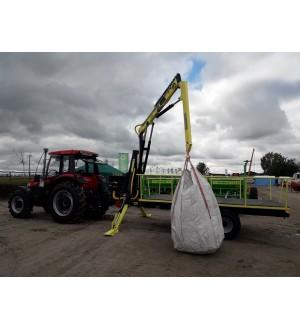 Полуприцеп тракторный DL AgroMaster с манипулятором DL Agro