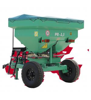Розкидач мінеральних добрив причіпний РП-2,1