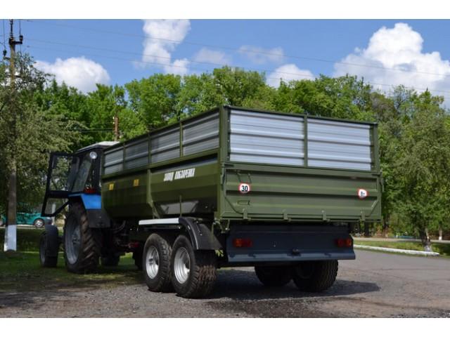 Самоскидний тракторний причіп ТСП-10 з одностороннім розванатженням до тракторів МТЗ-82