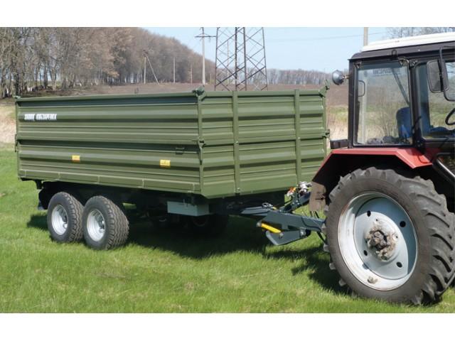 Тракторний самоскидний причіп ТСП-10т з трьохстороннім розванатженням до тракторів МТЗ-82