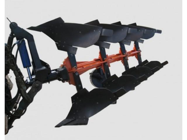 Плуг 4-х корпусный навесной оборотный с изменяемой шириной захвата под МТЗ 1221 с углоснимами