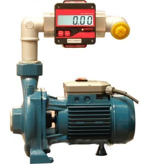Центробежный насос SCG-150 с расходомером для учета дизельного топлива  220В, 150-250 л/мин